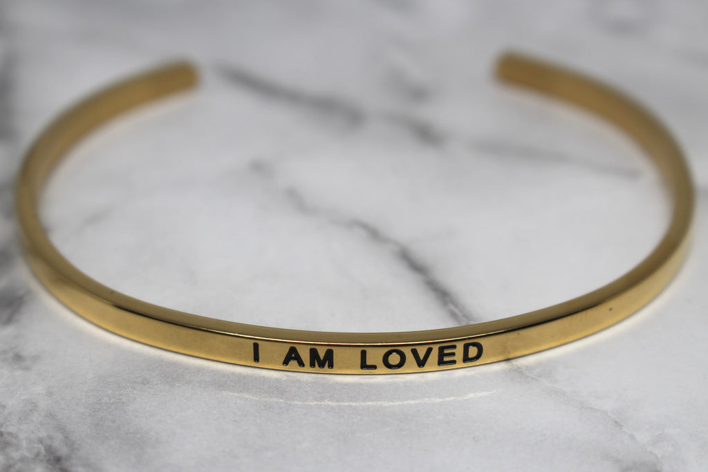 I AM LOVED* Cuff Bracelet- Gold