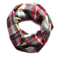 Mad For Plaid Infinity Scarf- Classic Multi