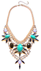 Cascading Crystal Bib Statement Necklace