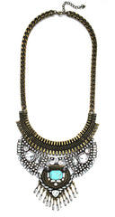 Delilah Brass & Shine Necklace