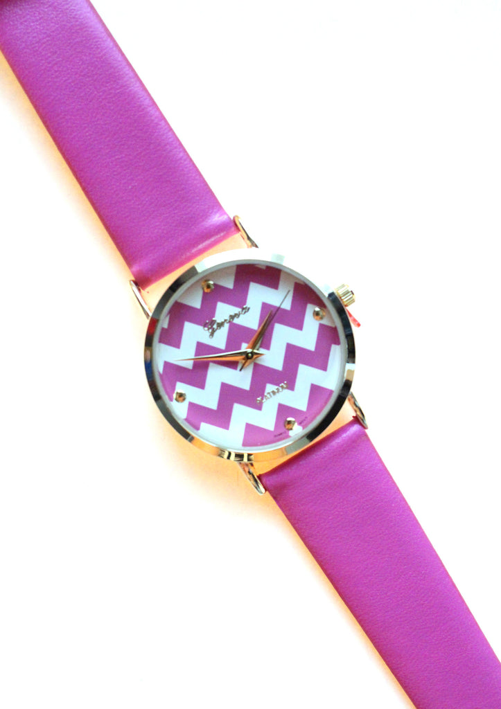 Leather Chevron Trendy Watches