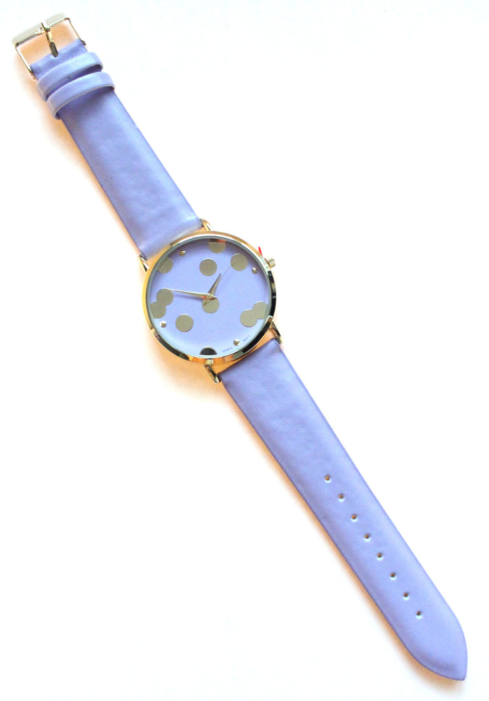 Leather Golden Dot Watches