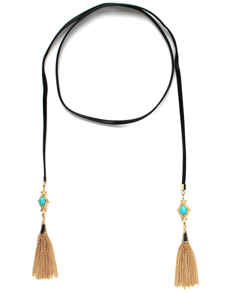 Tamara Wrap Tassel Choker Necklace
