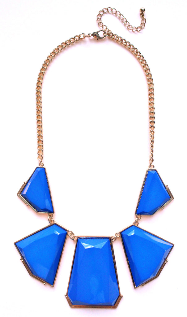 Deco Bib Statement Necklace- Royal