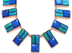 Modern Art Deco Statement Necklace