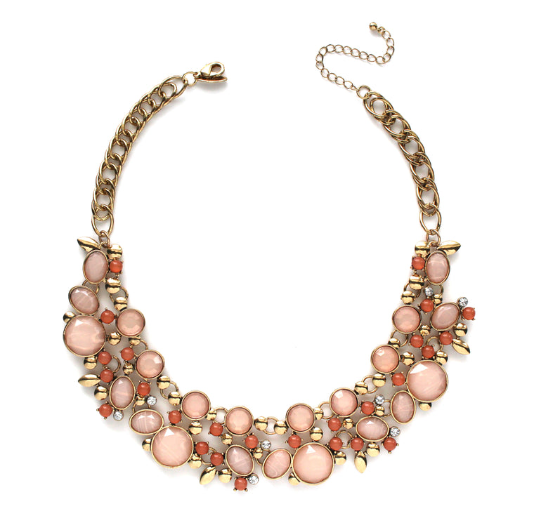 Chiara Rose Bib Necklace