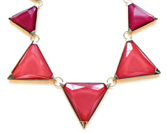 Colorblock Pyramid Jewels- Magenta & Pink