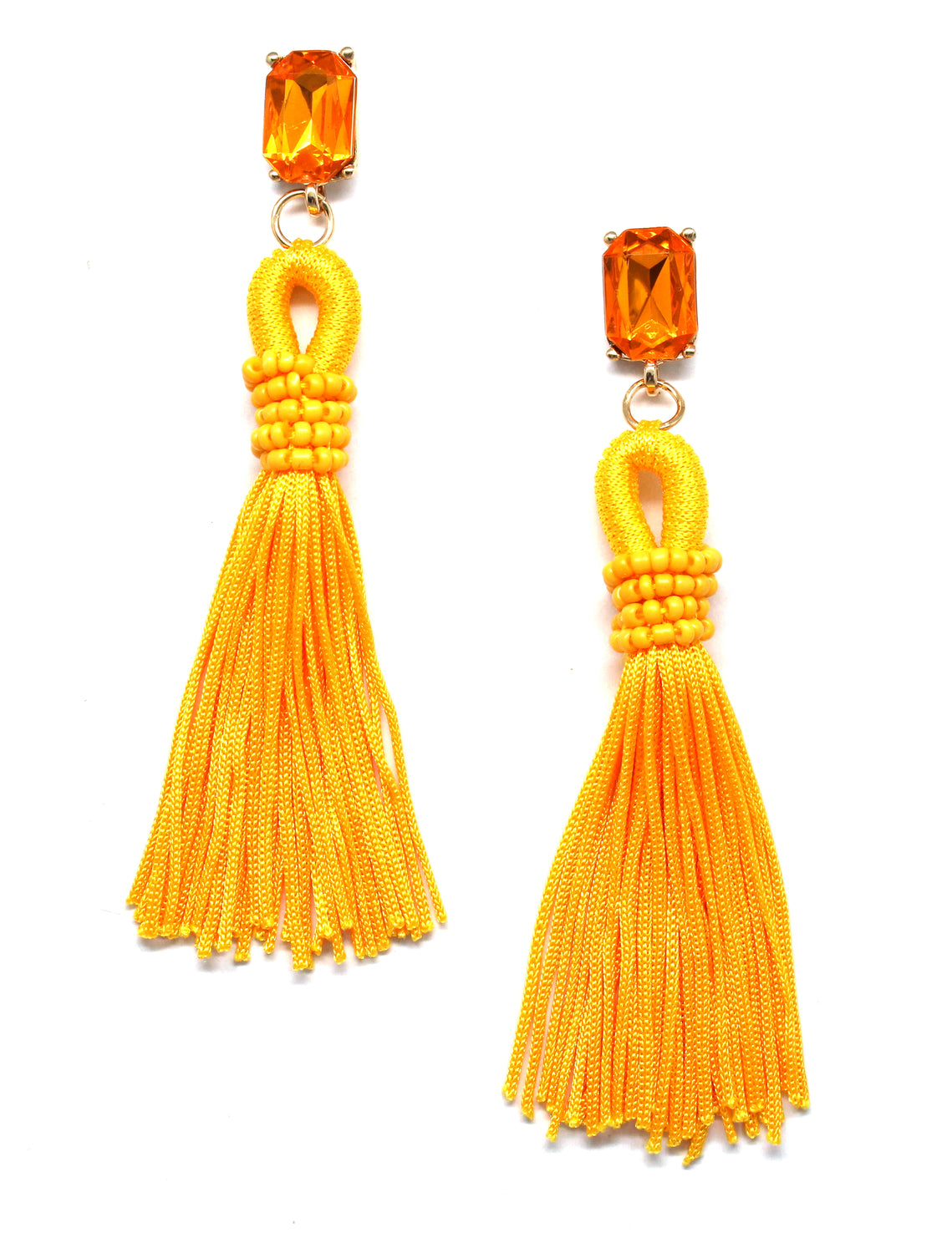 Andrea Sky Tassel Earrings- Yellow