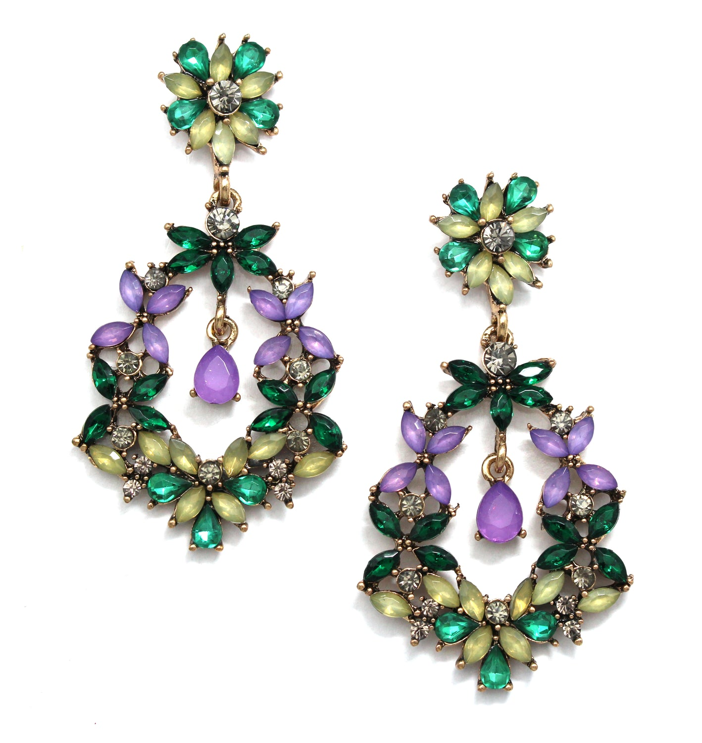 Madeline Blooms Crystal Earrings