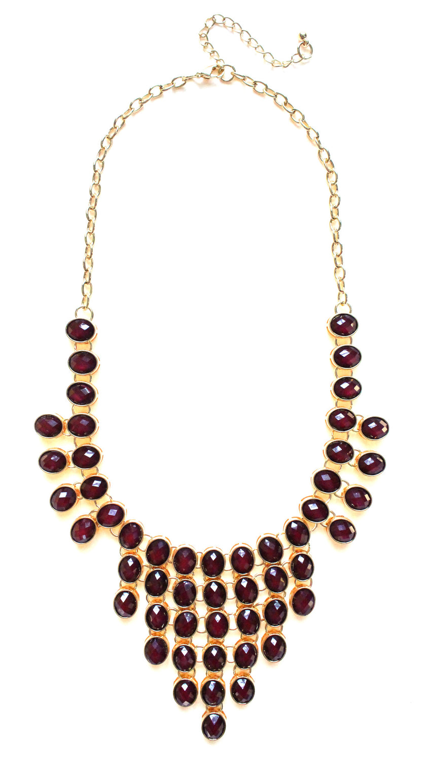 Jeweled Romance- Burgundy