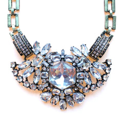 Luxe Crystal Compilation Statement Necklace Set- Crystal