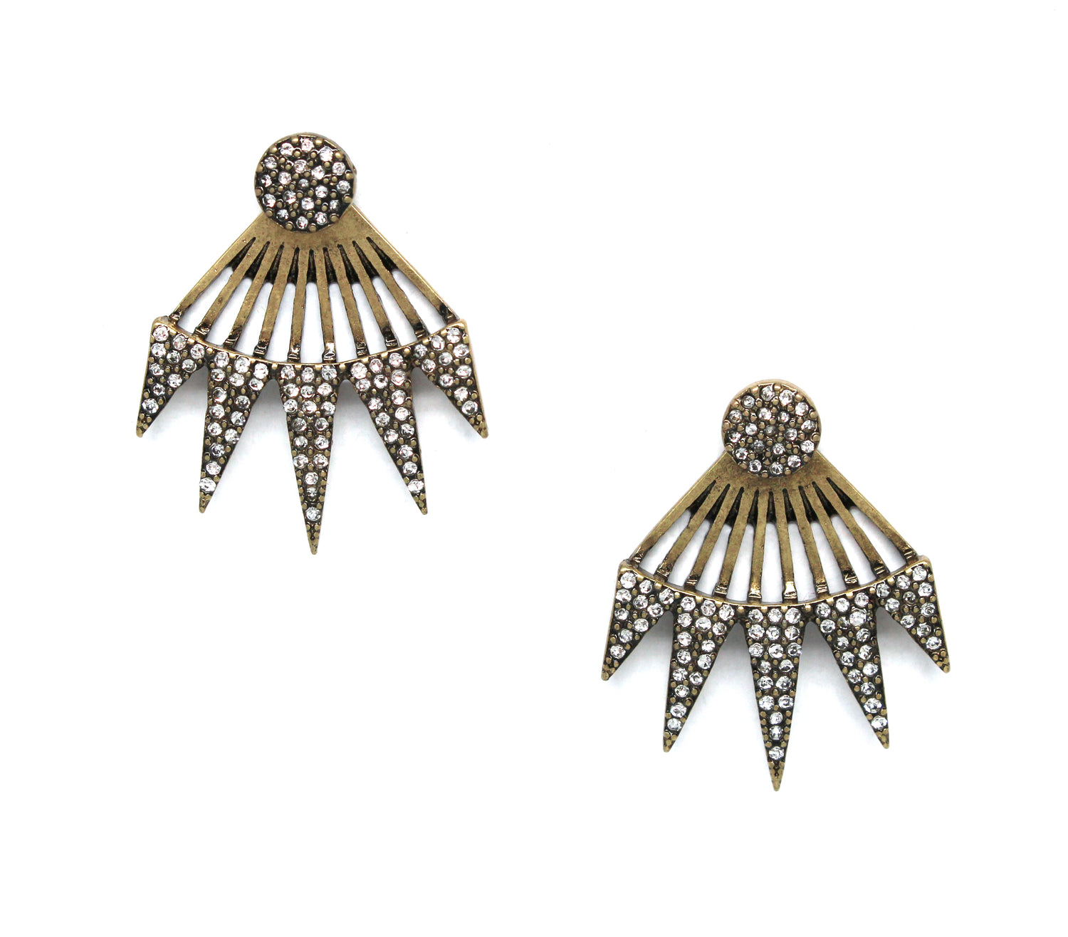 Olivia Pavé Crystal Ear Jacket Earrings
