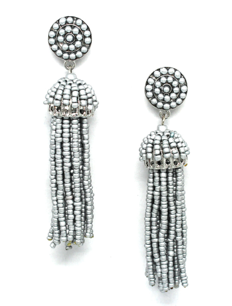 Daniella Tassel Earrings- Silver