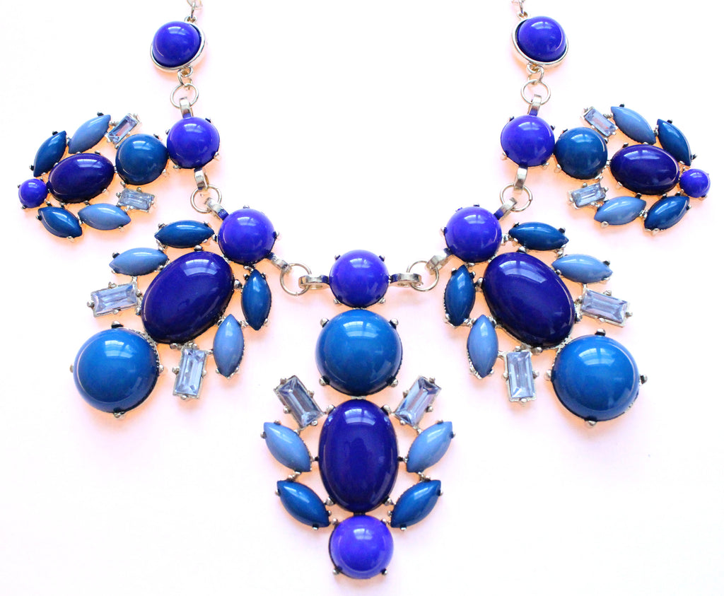 Royal Bee Gemstone Statement Necklace