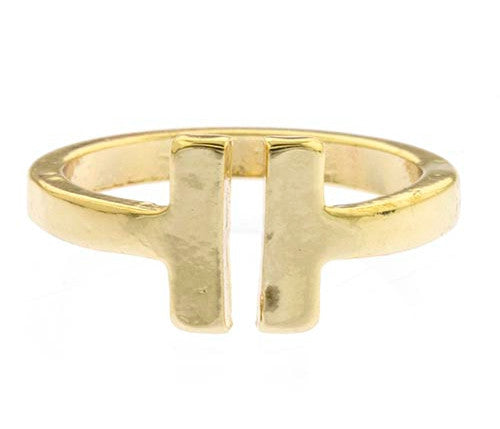 T Square Ring- Gold