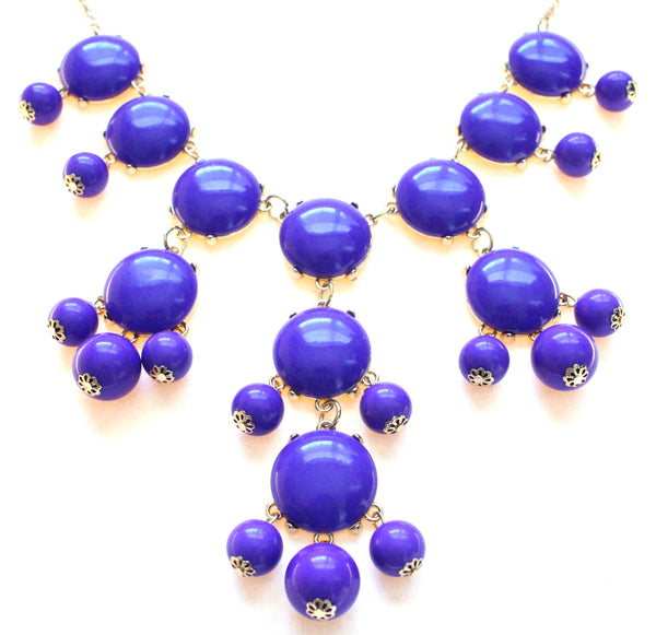 Bubble Statement Necklace- Purple