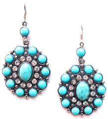 Southern Sparkle Turquoise Earrings