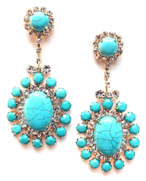 Southern Glam Turquoise Earrings