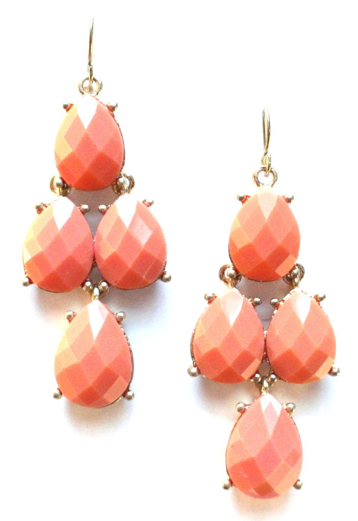 Peach Gemstone Earrings
