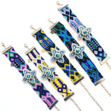 Folkloric Crafted Sparkle Star Pendant Bracelet- 5 Color Options