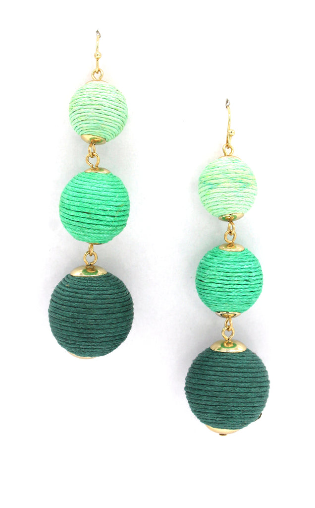 Avery Drop Earrings- Green Ombre