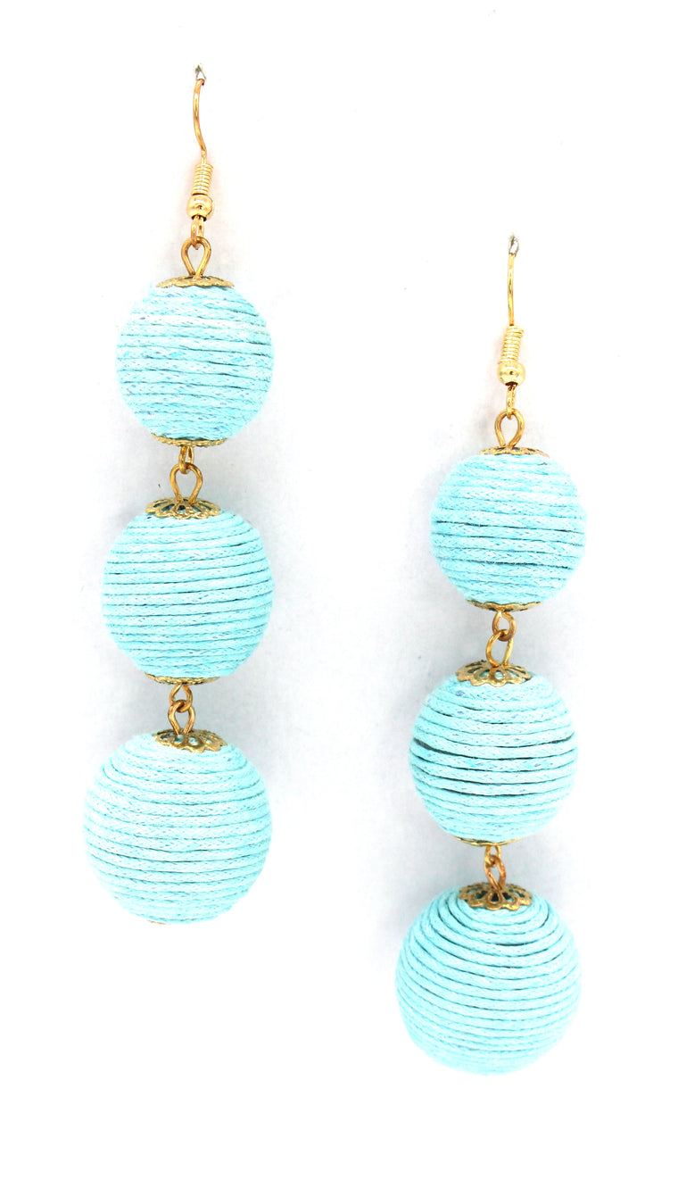 Avery Drop Earrings- Baby Blue