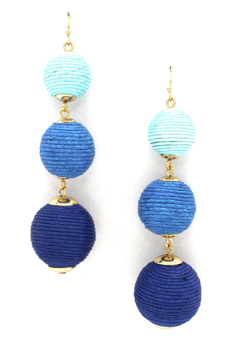 Avery Drop Earrings- Shades Of Blue