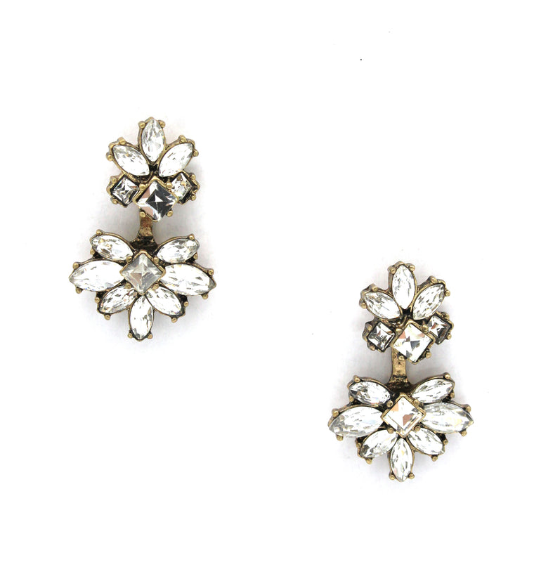 Dahlia Blooms Ear Jacket Earrings