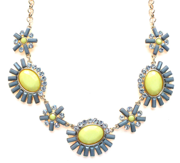 Sunshine Sparkle Necklace- Gray & Yellow