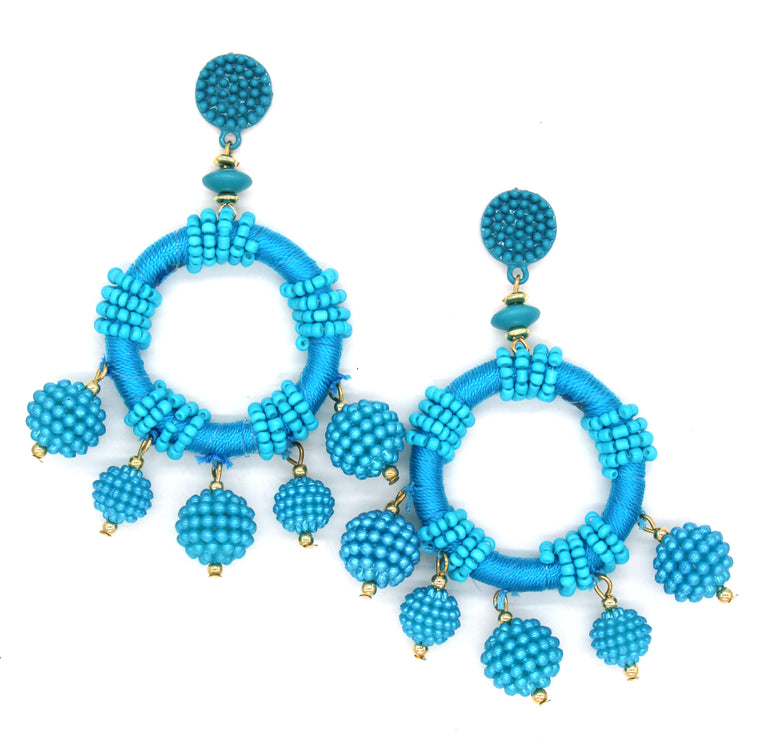 Dulce Hoop Earrings- Turquoise