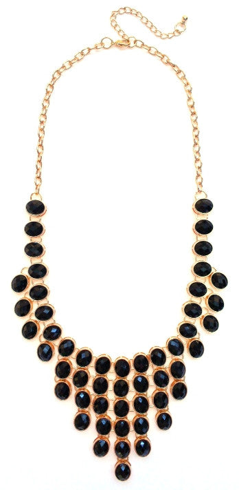 Jeweled Romance- Black