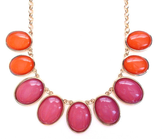 Colorblock Jewels- Pink