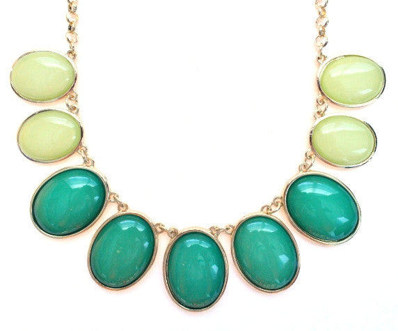 Colorblock Jewels- Green
