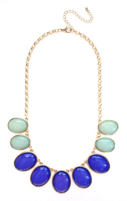 Colorblock Jewels- Blue