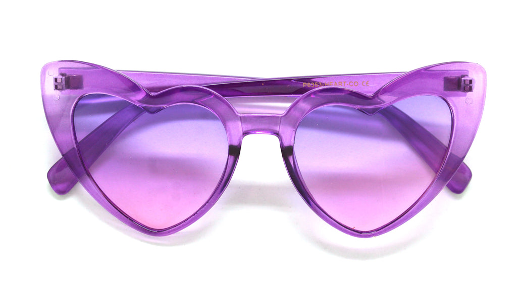 Heart Eye Sunglasses- Purple