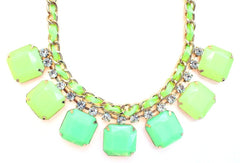 Neon Rope Chain Necklace- Lime