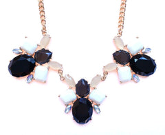 Bumble Bee Statement Necklace- Black & Ivory