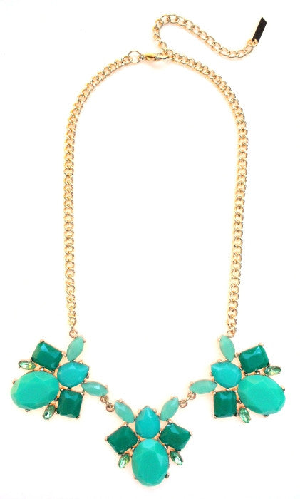 Bumble Bee Statement Necklace- Green