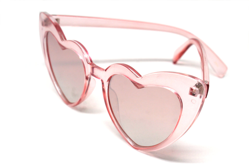 Heart Eye Sunglasses- Pink