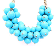 Chunky Beaded Cluster Statement Necklace
