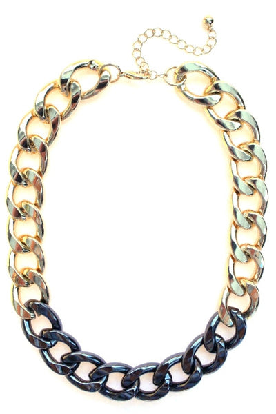 Two-Tone Chain Linked Necklace