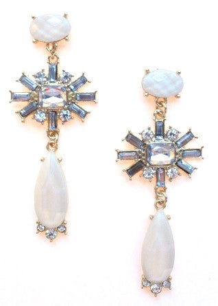 Simply Elegant Jeweled Earrings