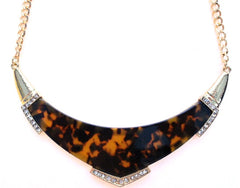 Tortoise Bib Necklace