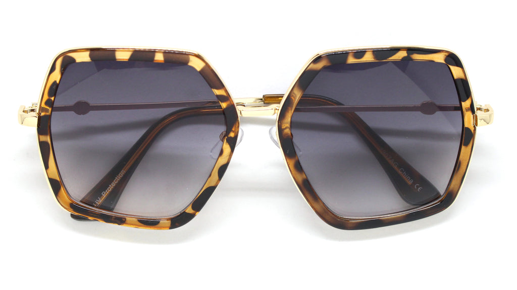 Genevieve Over-sized Sunglasses- Tortoise Frame