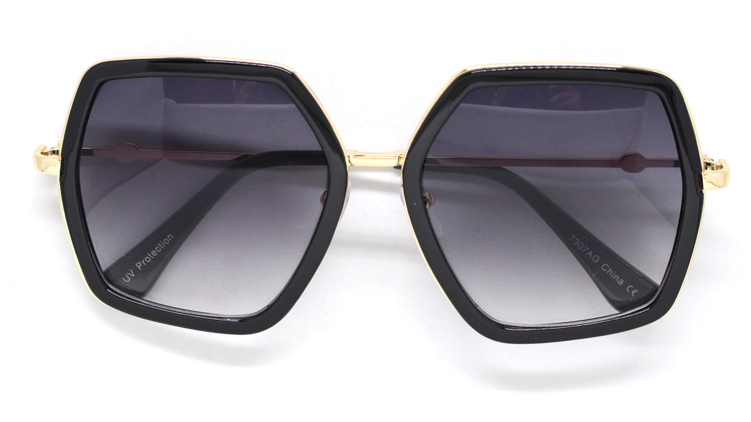 Genevieve Over-sized Sunglasses- Black Frame
