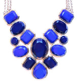 Geometric Statement Necklace- Royal