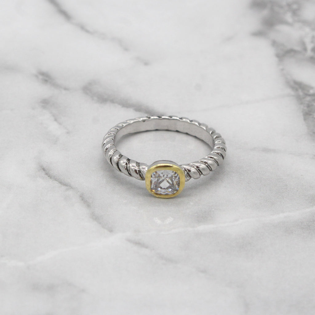 Sydney Delicate Ring- Crystal Stone