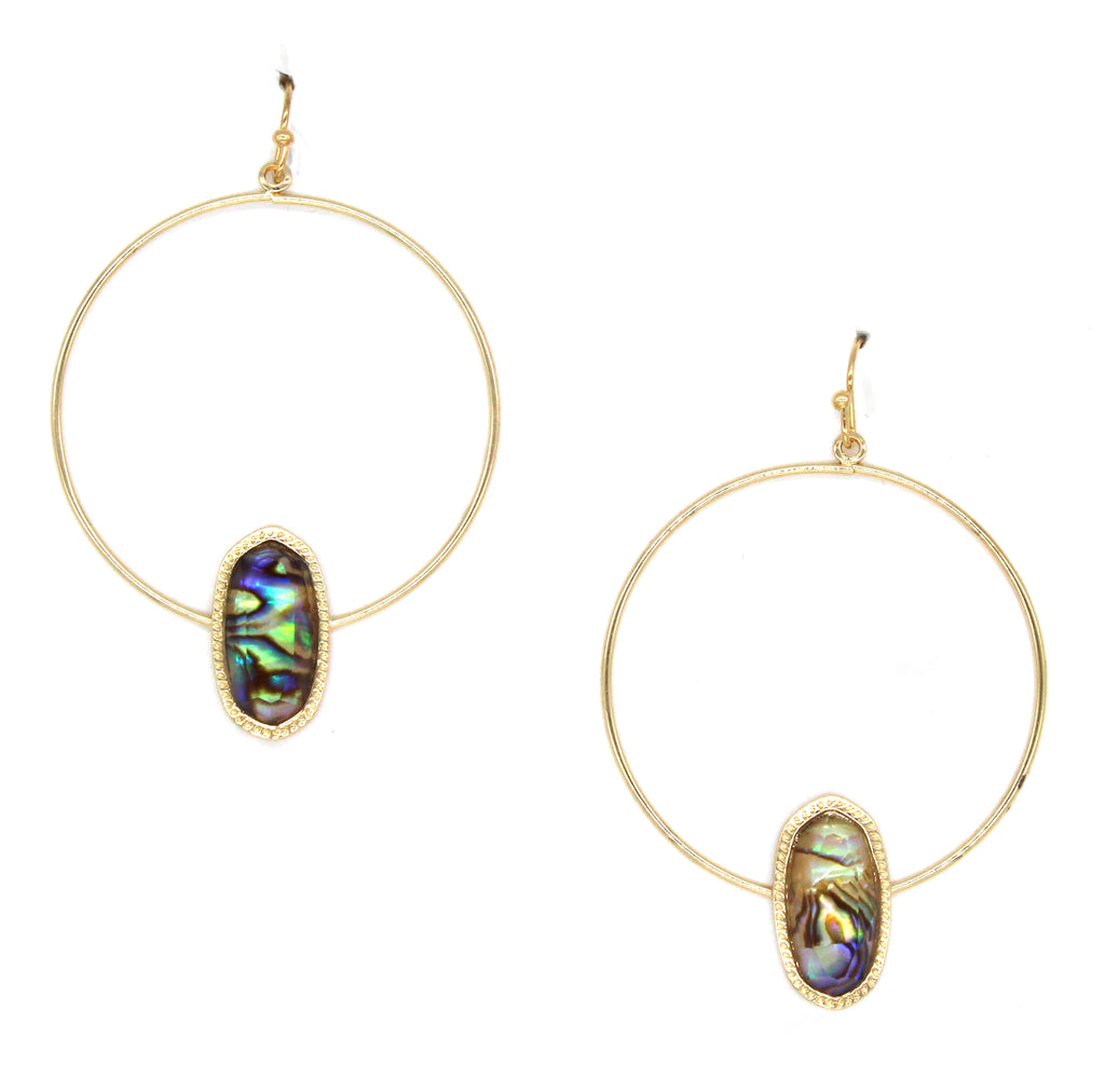Lizzy Mini Hoop Earrings- Gold/Iridescent