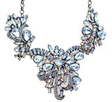 Luxe Crystal Corsage Statement Necklace