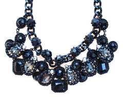 Chunky Woven Jeweled Necklace
